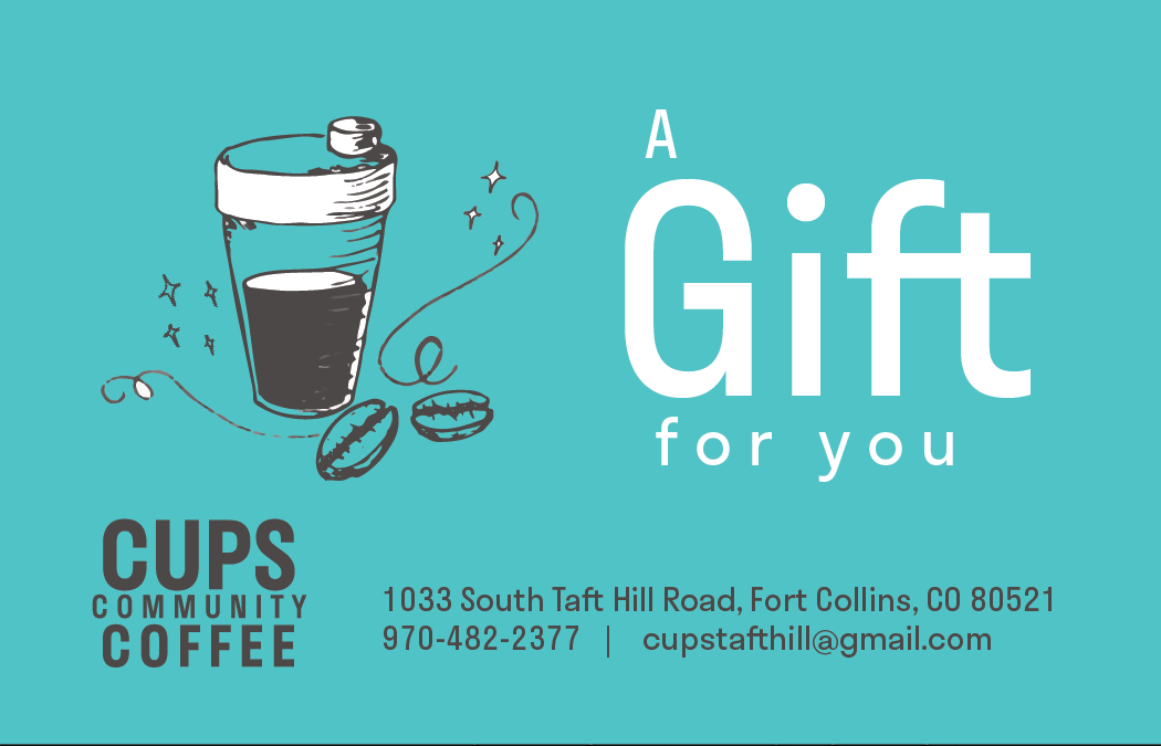 Cups Community Coffee gift card