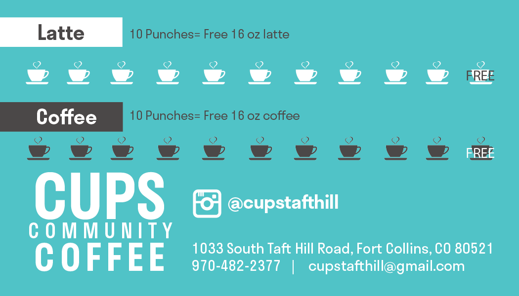 Cups Community Coffee punch card