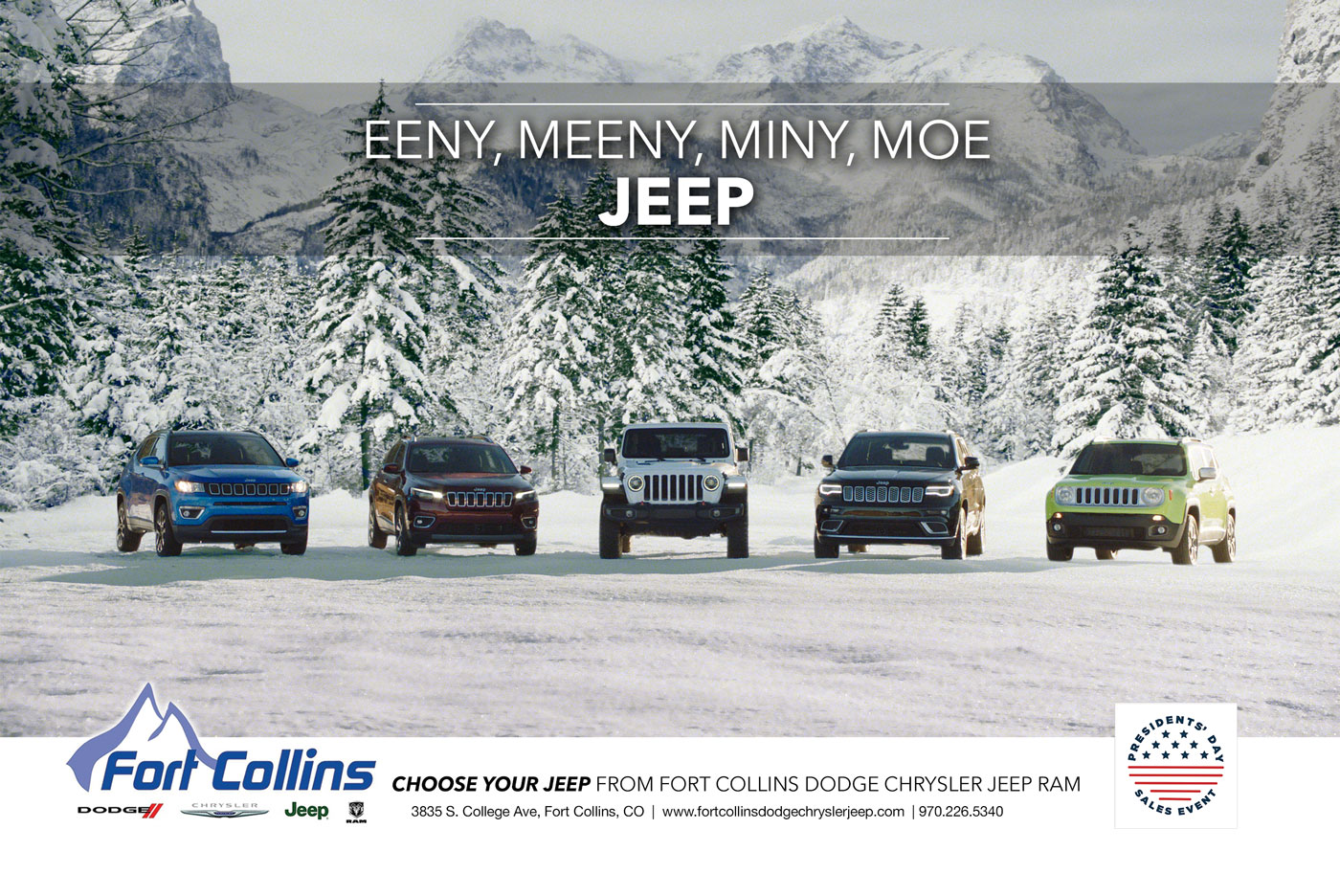 Dodge Jeep Fort Collins Ad Design